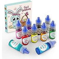 Colorante Alimentario10*6ml Alta Concentración Liquid para Colorear los Macaron Fondant Pasteles Galletas Bebidas