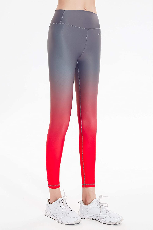 efef00aef973d8 Amazon.com: AYO*TEX Women's Yoga Power Flex Workout Active Stretch Kinney High  Waist Leggings (Grey, Medium): Clothing