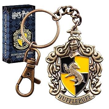 HARRY POTTER Oficial Hogwarts Hufflepuff Crest Diecast Metal Llavero - En Caja