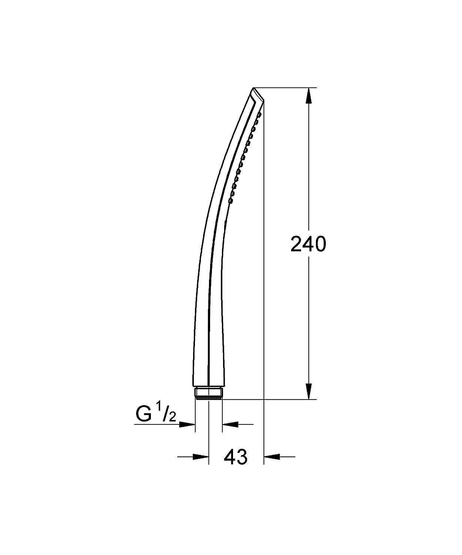 GROHE 27184KS0 Ondus Veris Stick 1 Spray Hand Shower - Velvet ... - GROHE 27184KS0 Ondus Veris Stick 1 Spray Hand Shower - Velvet Black:  Amazon.co.uk: DIY & Tools