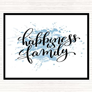 Happiness Is Family Inspirational Quote Dinner Table Placemat