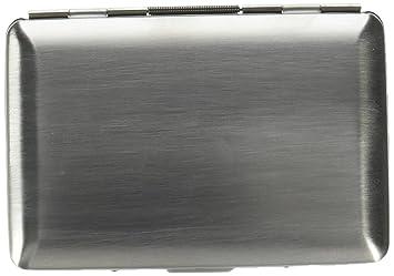 Seguro fregadero de acero inoxidable bloqueo RFID cartera y tarjeta de Crédito Soporte para hombres y mujeres. Prevención de la identidad theaft.