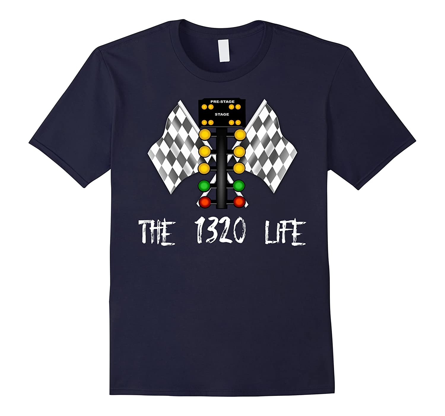 Quarter Mile 14 Drag Racing The 1320 Life Line It Up Tee-TD