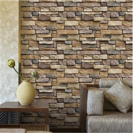 Elistelle Brick Design Tile Stickers For Kitchen Bathroom Wall