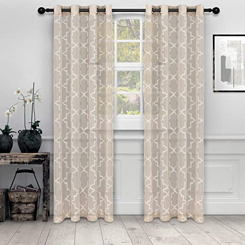 SUPERIOR Semi-Sheer Embroidered Curtain Panel