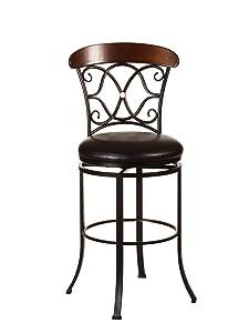 Hillsdale Furniture 5026-826 Swivel Counter Stool Dark Coffee