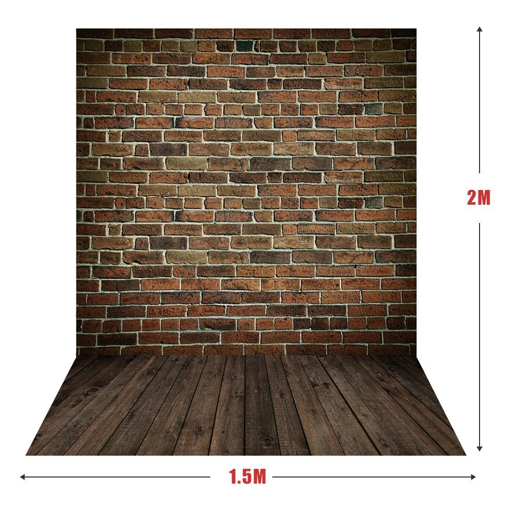 Andoer 1.5 x 2m Big Photography Background Backdrop Classic Fashion Wood Wooden Floor for Studio Professional Photographer
