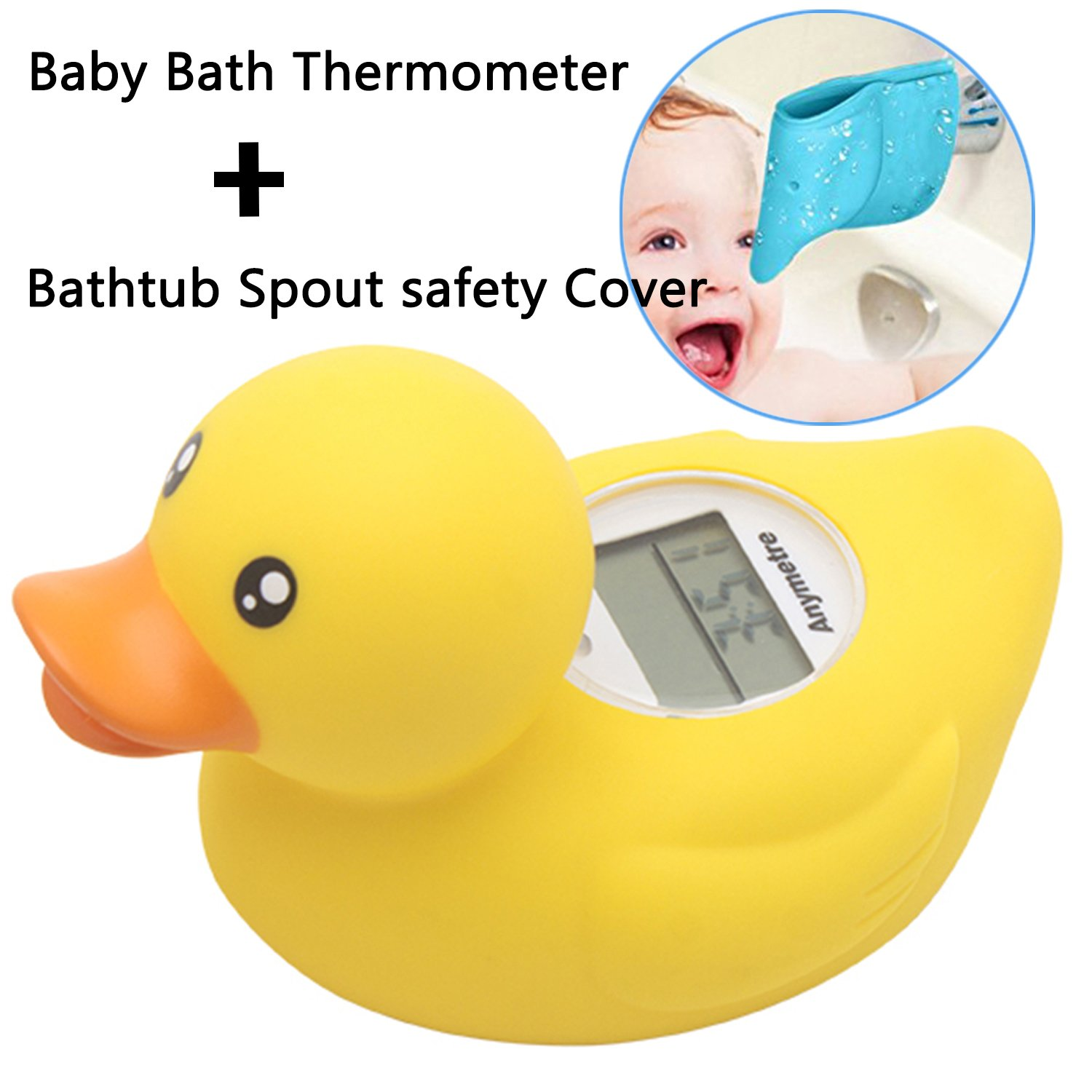 Amazon.com : Baby Bath Thermometer and Bath Spout Cover, Tub Faucet ...