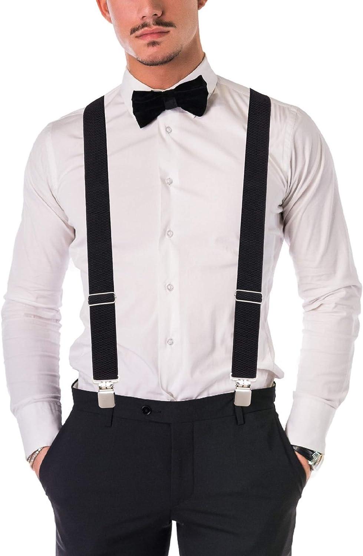 Buyless Fashion Tirantes el/ásticos y ajustables para hombres 3 cm