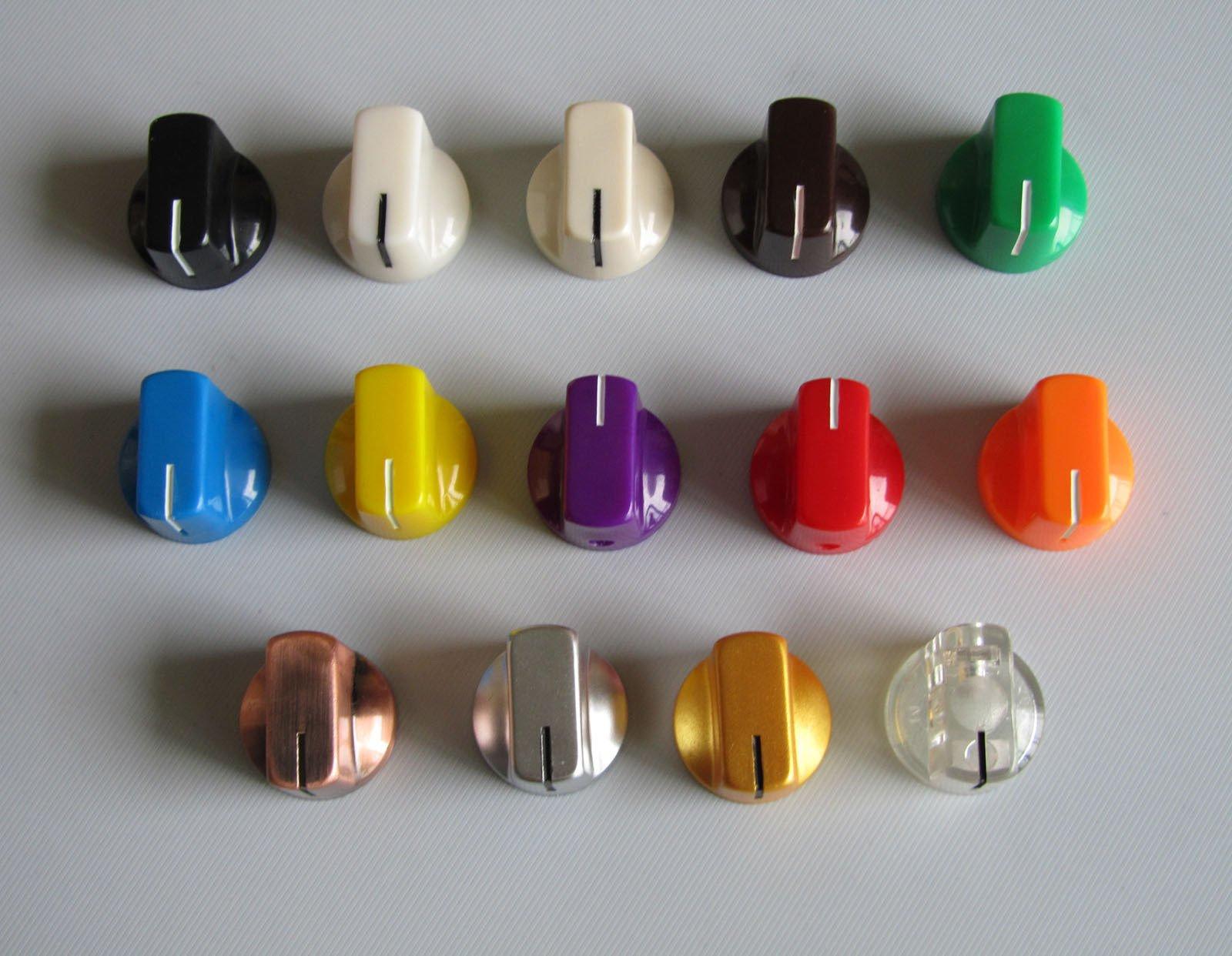 Guitar Effects Pedal Knobs AMP Amplifier Knob Davies Style 1/4'', Purple 10 Pcs