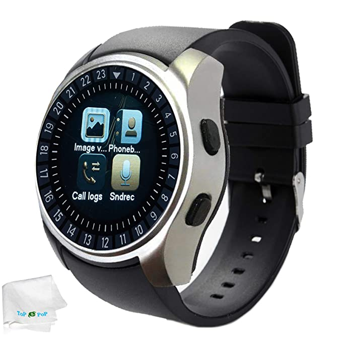 Smart Watch Bluetooth Wrist Smartwatch Touch Screen Unlocked Watch with  Camera Sport Watches Fitness Tracker Compatible cf9a28a52