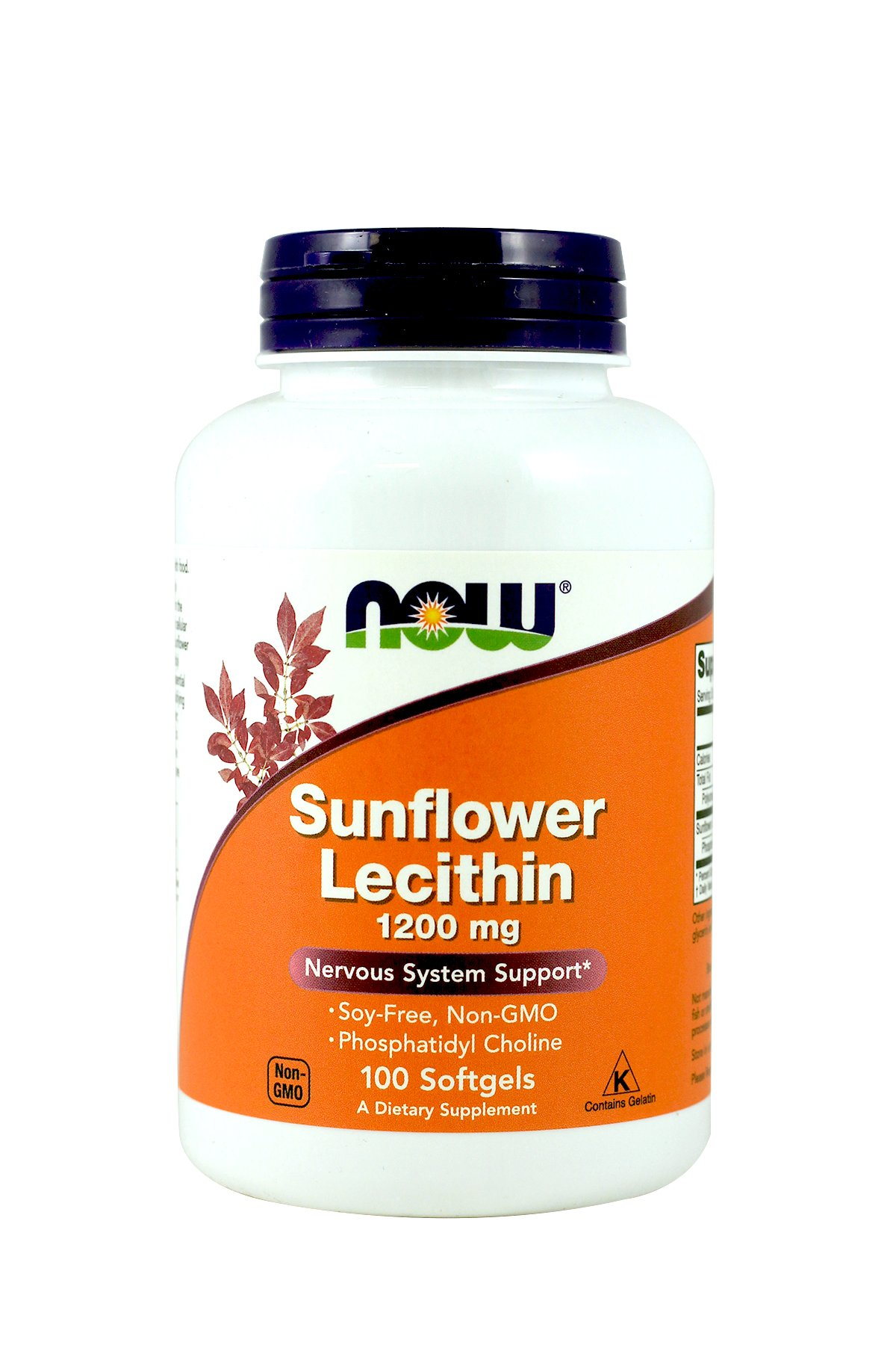 NOW Foods Sunflower Lecithin 1,200 Mg Softgels, 2 Pk