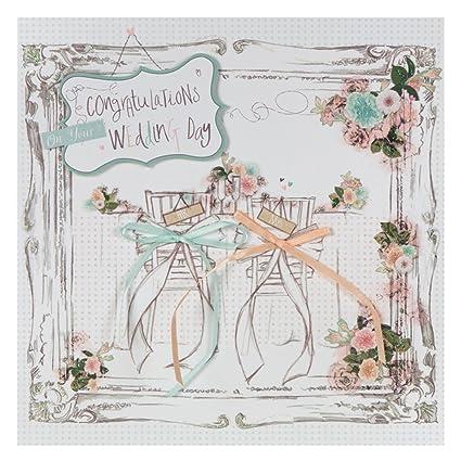 Hallmark - Tarjeta de felicitación de boda (forma cuadrada, tamaño ...