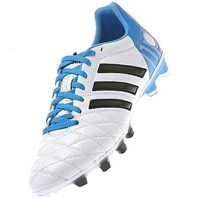 buy popular 97561 2fe22 adiPure 11 Pro TRX FG Football Boots Running White Black Solar Blue - size
