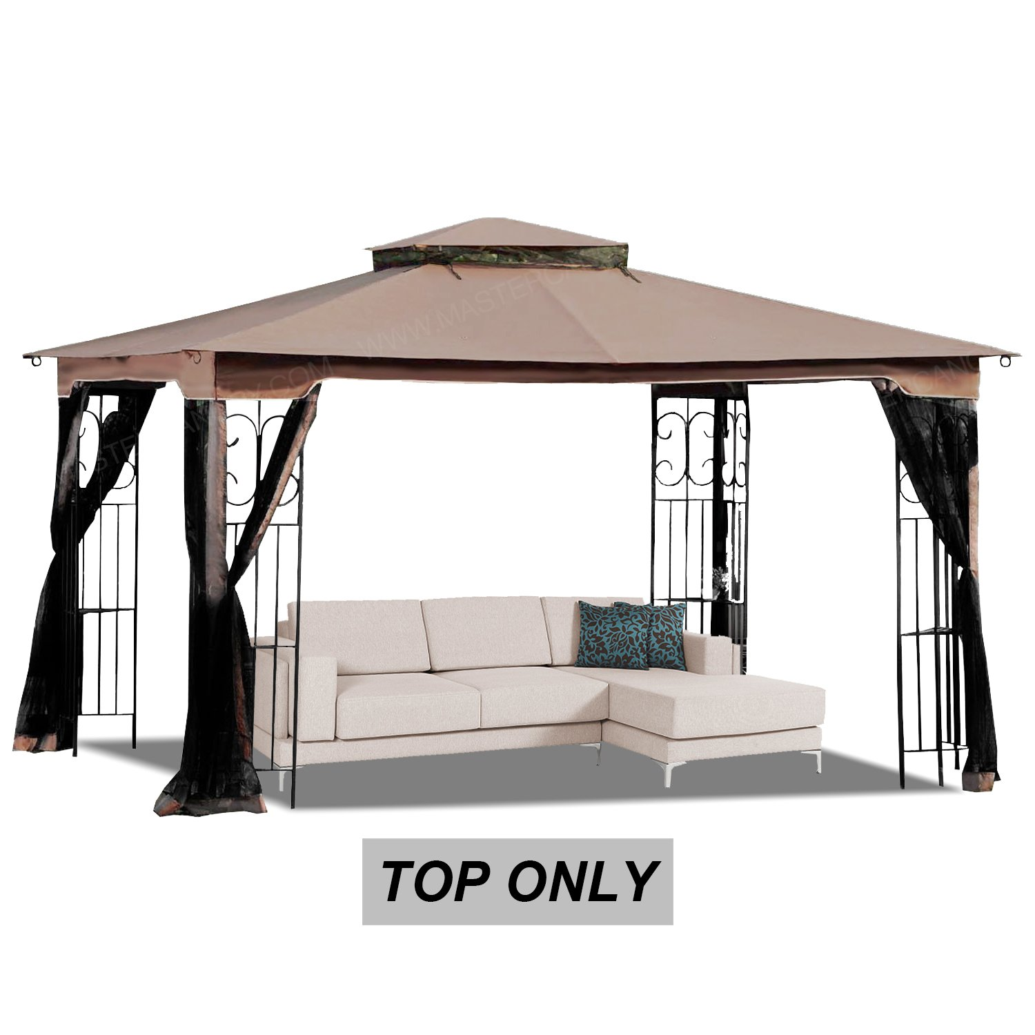 MASTERCANOPY 10' x 12' Gazebo Replacement Canopy Roof for Model GZ798PST-E (Only Top)