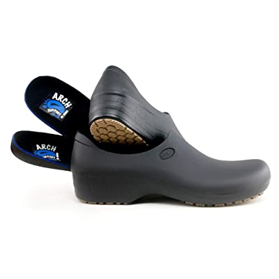 Comfortable Work Shoes for Women - Arch Support Version - Waterproof Slip Resistant - StickyPRO Shoes: Shoes