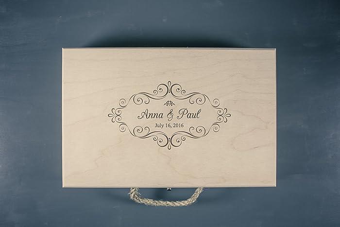 Amazon.com: Large Wedding Keepsake Box - Wedding Memory Box -Vintage ...