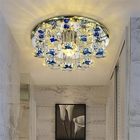 lilamins haz LED lámpara Illumina Pasillo Techo Cristal Luz ...