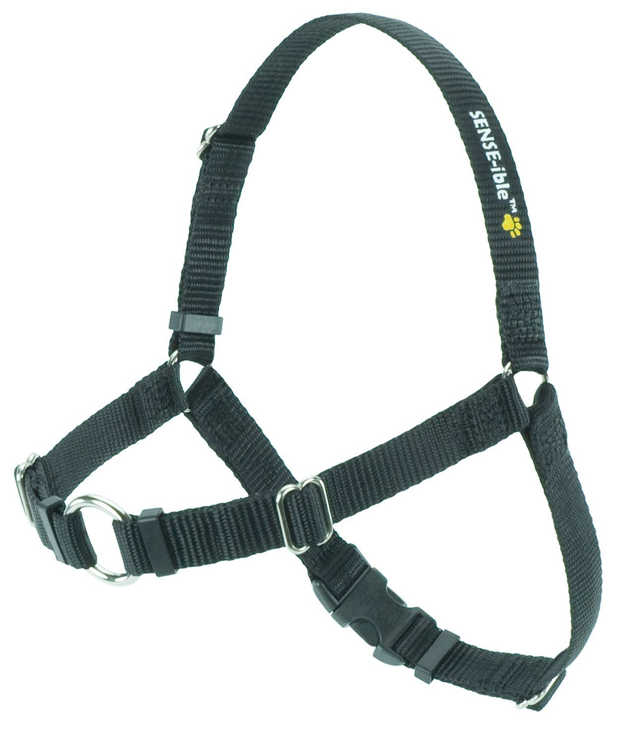 Softouch Sense-ible No-Pull Dog Harness - Black Medium