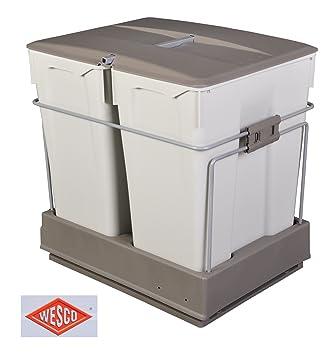 wesco einbau abfallsammler 2x30 liter auszug mülleimer müllsammler ... - Abfalleimer Küche Einbau