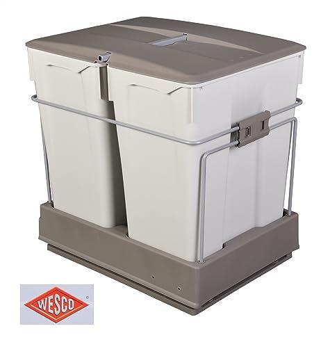 Wesco Einbau Abfallsammler 2x30 Liter Auszug Mülleimer Müllsammler ...