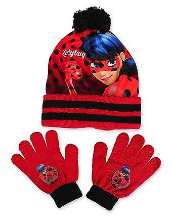 15b8b916b22a Miraculous Ladybug - Ensemble bonnet, écharpe et gants - Personnage -  Garçon - Noir - Taille unique  Amazon.fr  Vêtements et accessoires