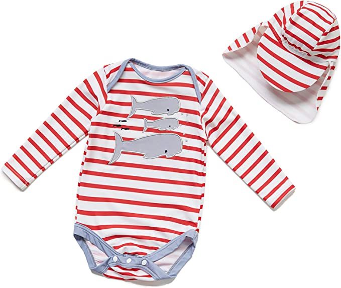 Heart,6-9Months Baby Girls Sunsuit UPF 50 Sun Protection One Pieces Short Sleeves Swimwear with Sun Hat