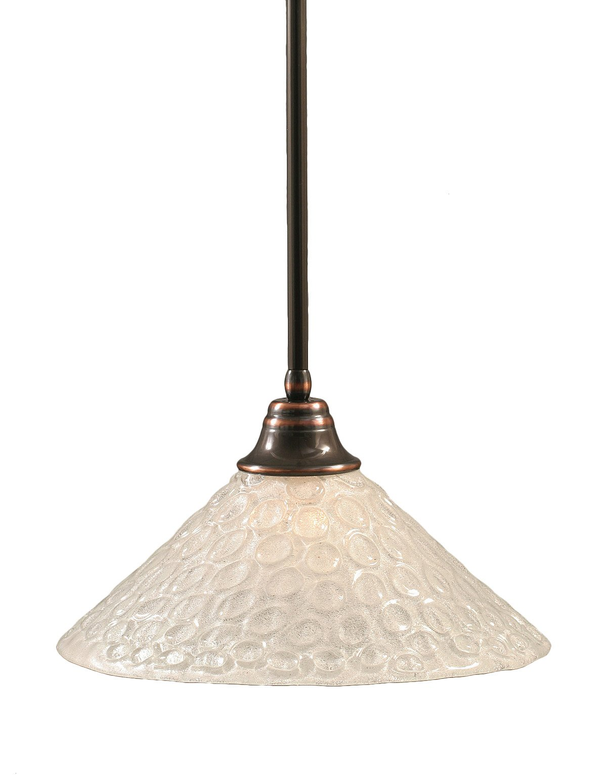 Toltec Lighting 26-BC-411 Stem Pendant Light Black Copper Finish with Italian Bubble Glass Shade, 16-Inch
