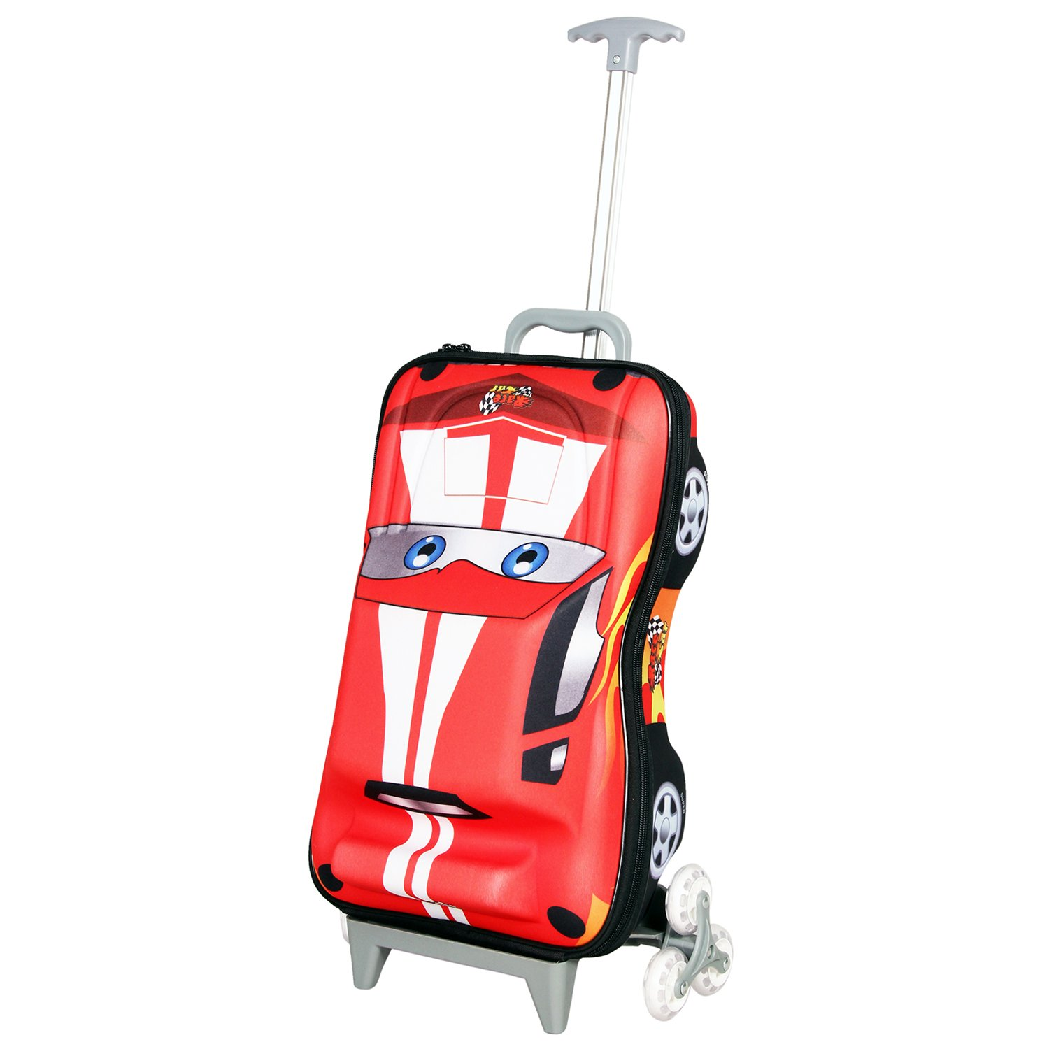 T Bags 3D Hunter Car Synthetic 1693 Cms Red Hybrid Childerns Luggage Amazonin Wallets