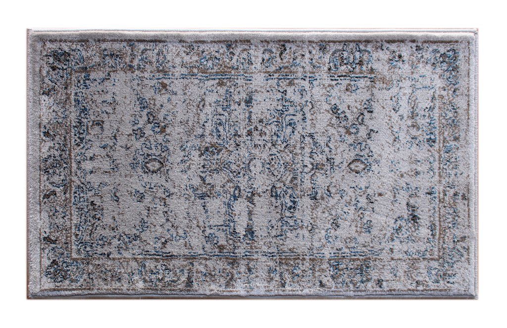 Masada Rugs Oriental Vintage Distressed Area Rug Rafael Collection (2 Feet X 3 Feet 4 Inch Mat) - Durable, lays flat and easy to maintain and clean Made in Turkey from 100% olefin with jute backing Colors in the rug: Beige Brown Blue - living-room-soft-furnishings, living-room, area-rugs - 71JibXxAEBL -