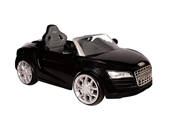 Toyhouse Audi R8 Spyder Rechargeable Battery Operated Ride On, Black Toy Vehicles & Accessories at amazon