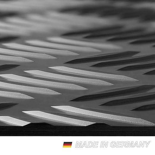 Kleinmöbel & Accessoires Grillunterlage Bodenschutzmatte Grillschutzmatte Mit Riffelblechoptik Schwarz Bodenschutzmatten