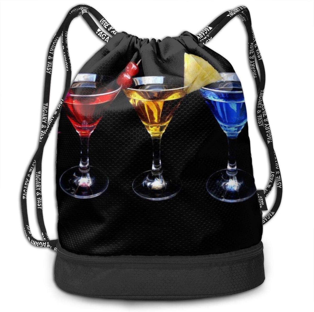 GymSack Drawstring Bag Sackpack Different Color Cocktail Sport Cinch Pack Simple Bundle Pocke Backpack For Men Women