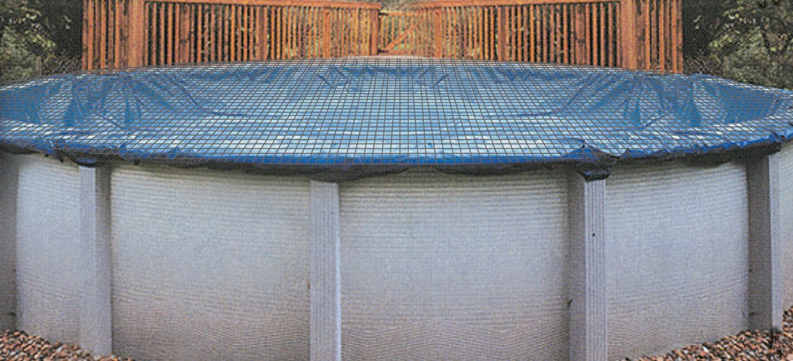 Swimline 15 x 30 Foot Oval Above Ground Swimming Pool Leaf Net Cover   CO91224 by Swimline