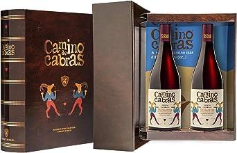 CAMINO DE CABRAS Estuche regalo – Producto Gourmet – Vino tinto – Mencía D.O. Valdeorras - Vino bueno para regalo - Caja de vino - Vino Premium - 2 botellas x 75cl: Amazon.es: Alimentación y bebidas