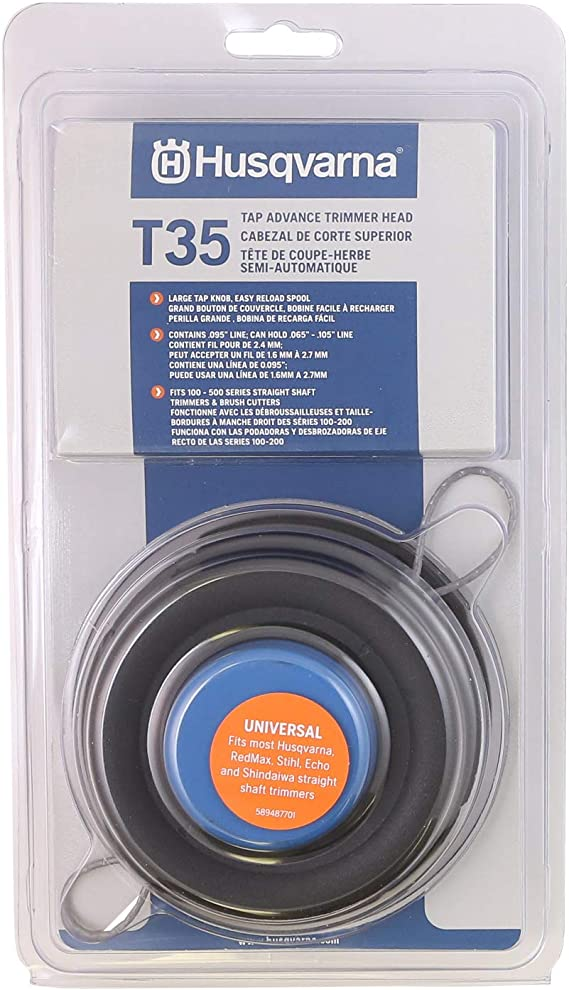 T35String  Mower Trimmer Head Bump Feed Loading For Husqvarna M10* 1.25 10MMx1