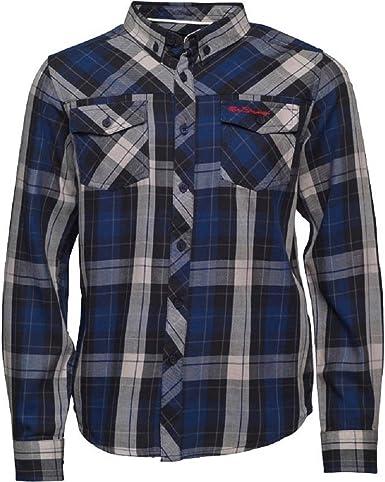 Ben Sherman Junior Boys Camisa de manga larga chaqueta azul ...