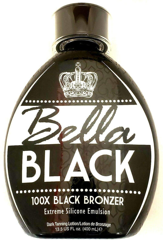 Bella Black 100x Bronzer Indoor/Outdoor Tanning Bed Lotion 13.5 oz - New 2020 Bronzing Blend
