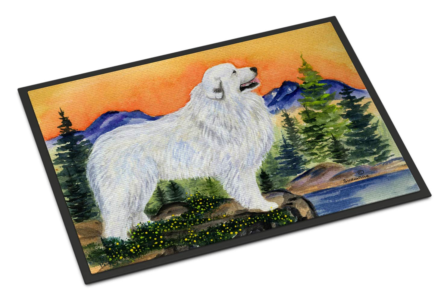 Caroline's Treasures SS8183MAT Great Pyrenees Indoor Outdoor Mat 18x27 Doormat, 18H X 27W, Multicolor 1