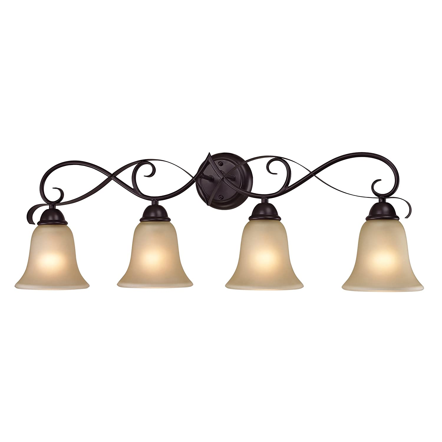 Bronze Bathroom Lights: Elk Lighting 1004BB/10 Brighton 4 Light Bath Bar, Oil Rubbed Bronze Finish  - Vanity Lighting Fixtures - Amazon.com,Lighting