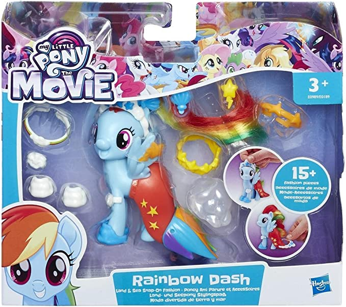My Little Pony The Movie Rainbow Dash land & Sea Fashion Style,My Little Pony