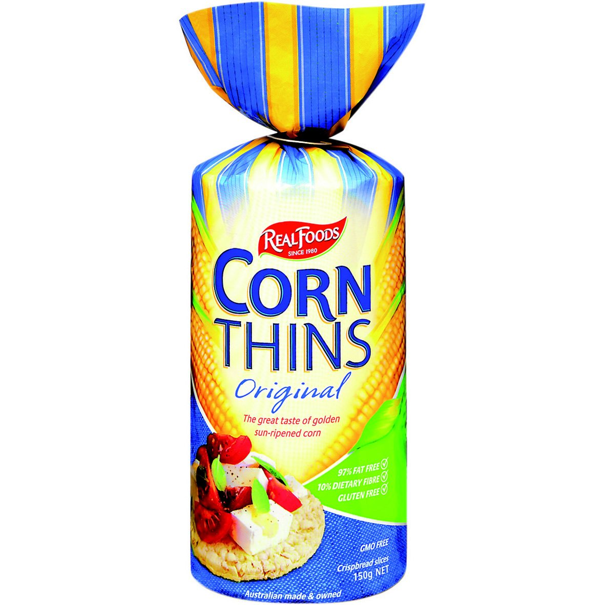 Real Foods Corn Thin ORGNL ORG, 5.3 OZ Pack of 6