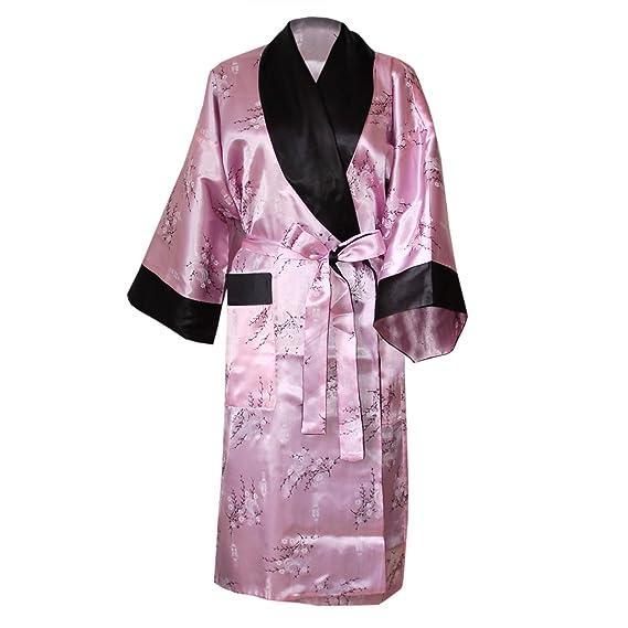 3232e845e4 wifash Satin Kimono