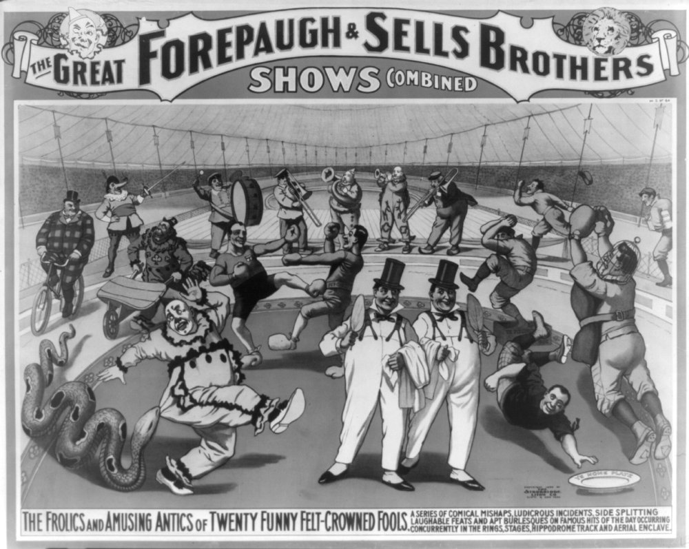 写真: The Great Forepaugh販売Brothers 20 Funny felt-crowned Fools。サーカスポスター1890 – 1900。The Great Forepaugh販売Brothers Shows Combined。The Frolics and Amusing Anticsの20 Funny felt-crowned fools. c1899。 B00KPYW14E