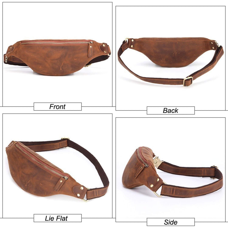 Men Leather messenger bag fashion Practical Solid Color Multifunction Bag