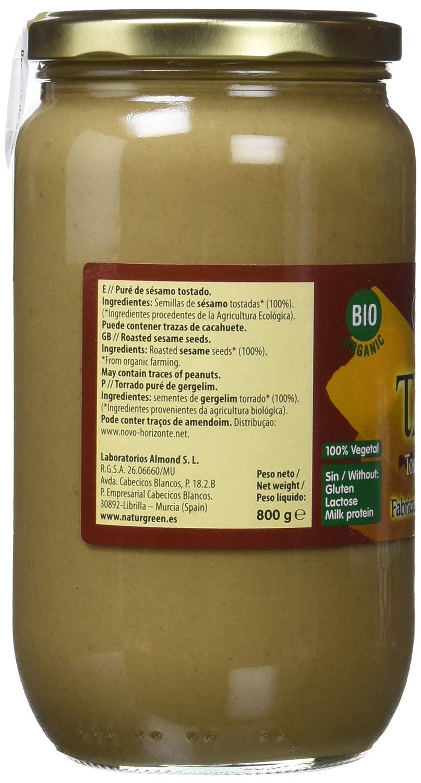 NaturGreen Puré de Sésamo Tostado Bio - Pack de 2 unidades de 800 gr: Amazon.es: Alimentación y bebidas