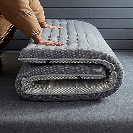 WENZHEN Colchon Plegable Invitados,Colchón de futón japonés de látex. Espesar el colchón Plegable Enrollable. Tatami.-Gris_100x200 cm (39x79 Pulgadas): Amazon.es: Hogar