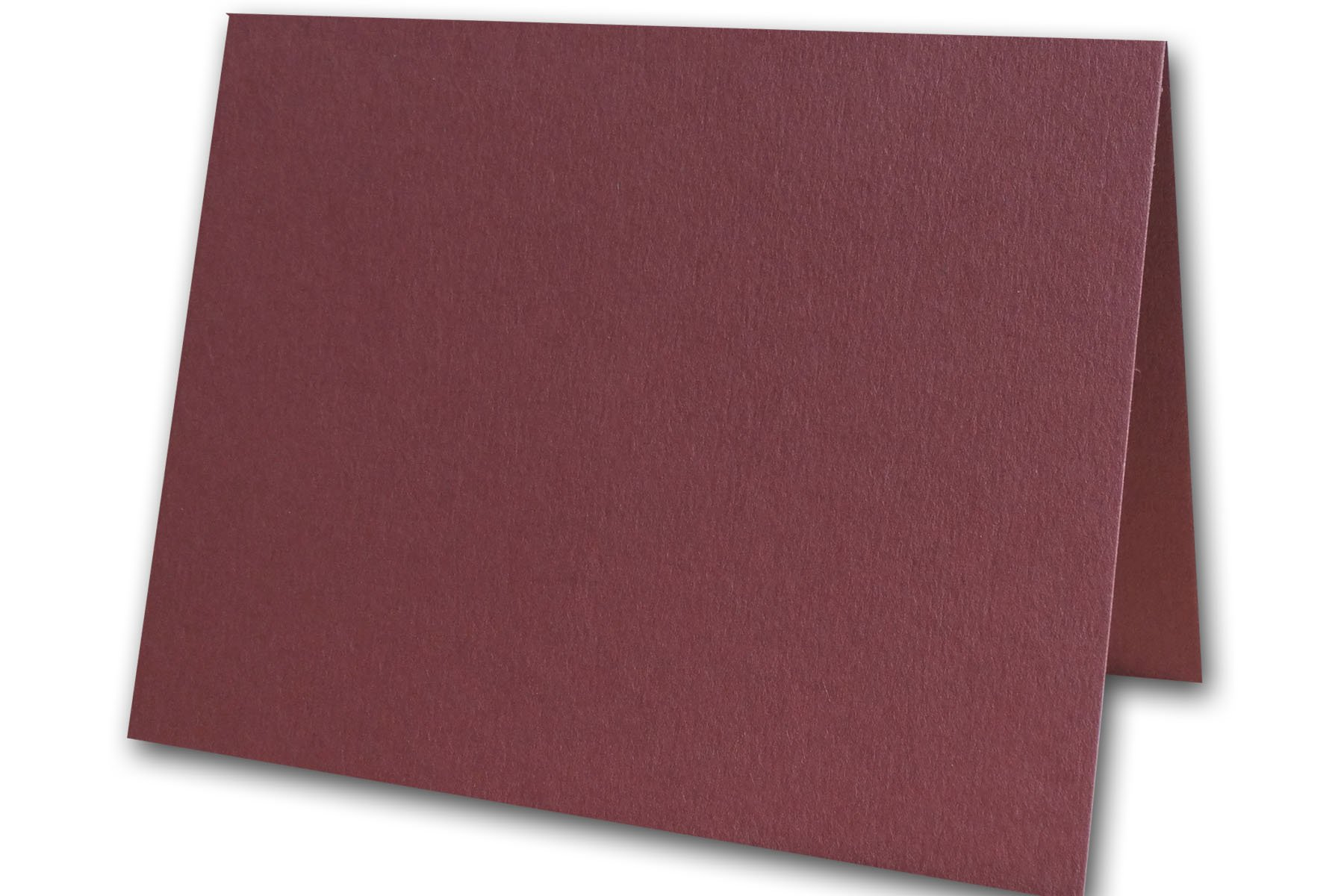 Blank Colorful Place Cards Tent Cards | Size 3.5'' x 5'' Flat 2.5'' x 3.5'' Folded (50, Burgundy) by CutCardStock