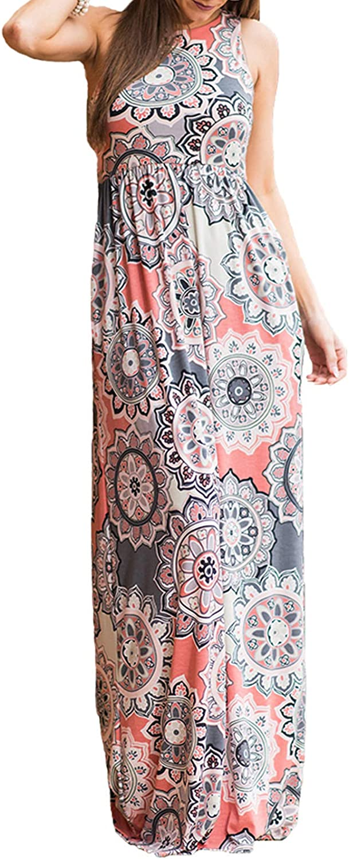 Women/'s Short Sleeve Boho Plain Maxi Casual Long Pockets Plus Size Floral Dress