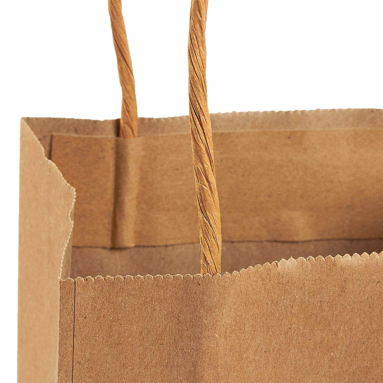 Amazon.com: Bolsas de papel kraft marrón con asas, ideales ...